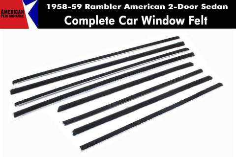 Window Felt/Beltline Weatherstrip Kit, 1958-59 Rambler American, 2-Door Sedan - AMC Lives