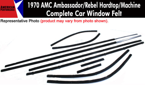 Window Felt/Beltline Weatherstrip Kit, 1970 AMC Ambassador, Rebel, Machine, 2-Door - AMC Lives