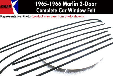Window Felt/Beltline Weatherstrip Kit, 1965-66 Rambler Marlin - AMC Lives
