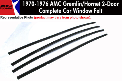 Window Felt/Beltline Weatherstrip Kit, 1970-76 AMC Gremlin, Hornet, 2-Door Sedan - AMC Lives