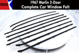 Window Felt/Beltline Weatherstrip Kit, 1967 AMC Marlin