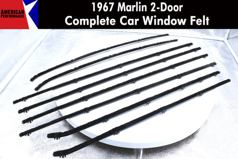 Window Felt/Beltline Weatherstrip Kit, 1967 AMC Marlin - AMC Lives
