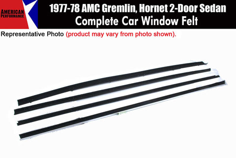 Window Felt/Beltline Weatherstrip Kit, 1977-78 AMC Gremlin, Hornet, 2-Door Sedan - AMC Lives