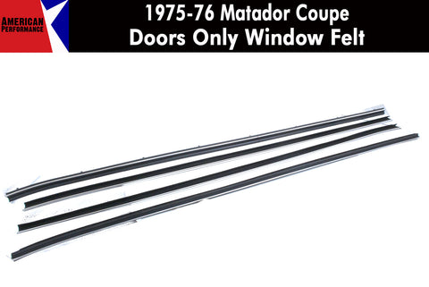 Window Felt/Beltline Weatherstrip Kit, 1975-76 AMC Matador, 2-Door Coupe - AMC Lives