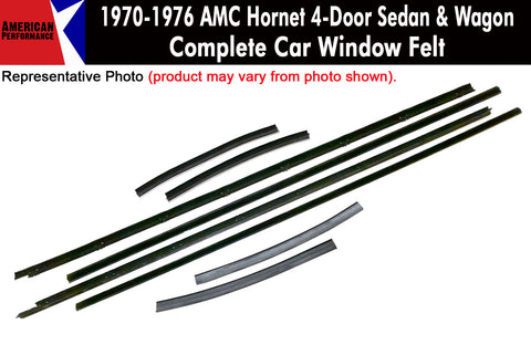 Window Felt/Beltline Weatherstrip Kit, 1977 AMC Hornet, 4-Door Sedan & Wagon - AMC Lives