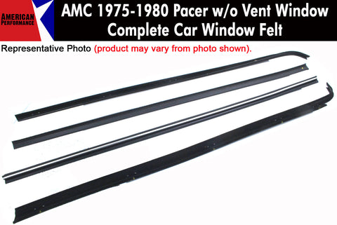 Window Felt/Beltline Weatherstrip Kit, 1975-80 AMC Pacer, w/o Vent Window - AMC Lives