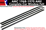 1968-1970 AMC AMX 4-Piece Window Felt Complete Car Kit