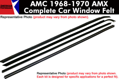 Window Felt/Beltline Weatherstrip Kit, 1968-70 AMC AMX - AMC Lives