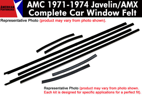 Window Felt/Beltline Weatherstrip Kit, 1971-74 AMC Javelin, Javelin AMX - AMC Lives