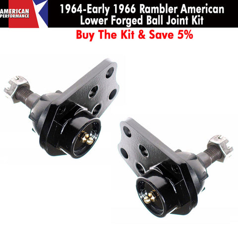 1964-Early 1966 Rambler American Forged Front Lower Ball Joint Kit - Limited Lifetime Warranty