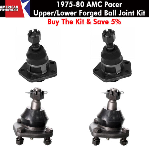 Ball Joint Kit, Upper & Lower, Forged, 1975-80 AMC Pacer - Limited Lifetime Warranty - AMC Lives