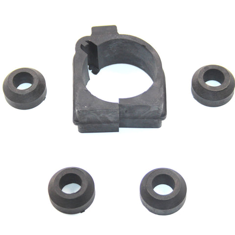 Rack and Pinion Mounting Bushings, Unique Graphite Rubber, 5-Piece Kit, 1975-80 AMC Pacer