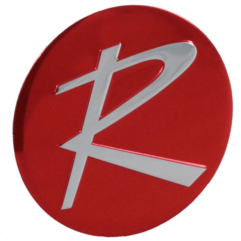 "1964-66 Rambler Red ""R"" Wheel Emblem For Typhoon & All w/2-Bar Spinner (4 Required)"
