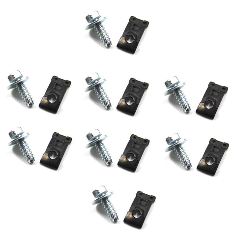 Fender Bolt and Clip Kit, 16-Pieces (8 bolts and 8 clips), 1961-88 AMC
