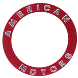 Wheel Center Cap Emblem Overlay, Red, Slot Style, 10 Slot, Poly-Cast, Forged, & Turbine Wheels, 1971-88 AMC (4 Required)