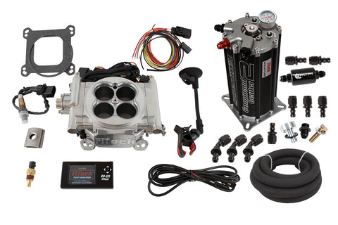EFI Fuel Injection Master Kit, 600HP 4-Barrel, 1966-91 AMC, Jeep V8 (3 Finishes, See Applications) - AMC Lives