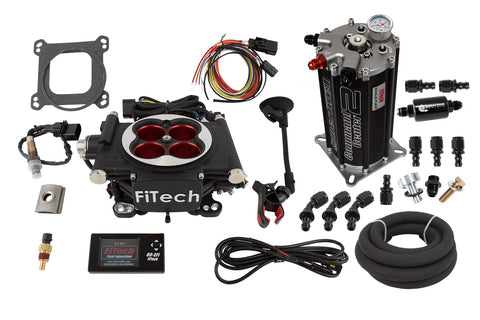 1966-1991 AMC V8 FiTech Go EFI 4 Power Adder 600HP Self-Tuning Fuel Injection System with Fuel Command Center
