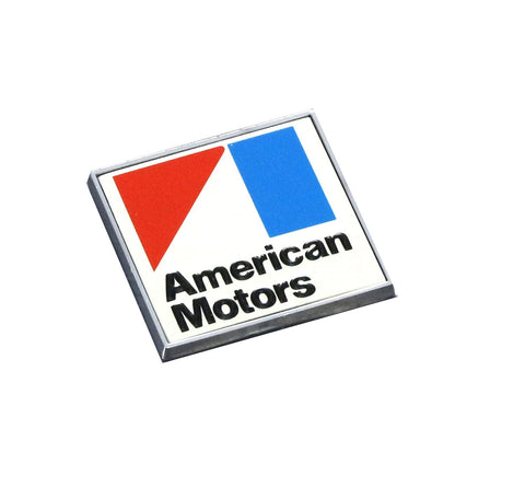 1970 Late - 1971 American Motors Square Rear Deck Emblem - Red, White, & Blue