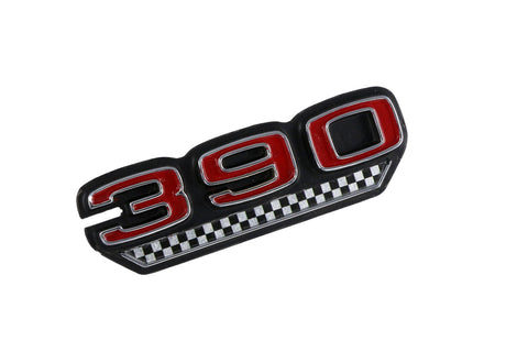 "Fender Emblem, ""390 V-8"", Red & Checkers, 1970 AMC (2 Required)"