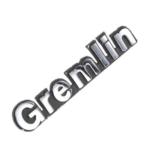 "Hood, Quarter Panel, Rear Emblem, ""Gremlin"", 4"", 1974-76 Gremlin (1 Required) - AMC Lives"