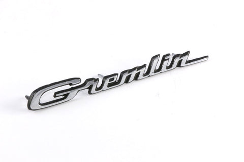 "Fender & Hood Emblem, ""Gremlin"" Script, 6.5"", 1971-78 AMC Gremlin (3 Required)"