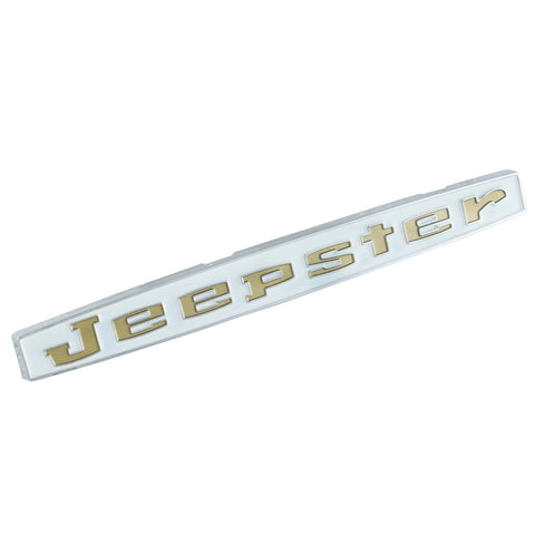 "Fender & Hood Emblem, ""Jeepster"", Gold, 1966-71 Jeepster Commando (3 Required)"
