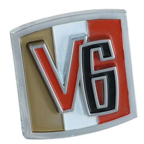 Fender Emblem, V6, 1966-71 Jeep CJ5 & CJ6 (2 Required)