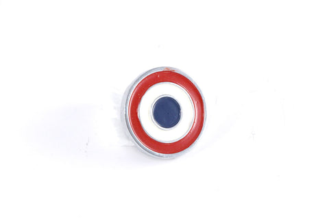 "1968-1974 AMC Javelin Bullseye 1""x1"" Quarter Panel Emblem - Red, White, & Blue - Pin On"