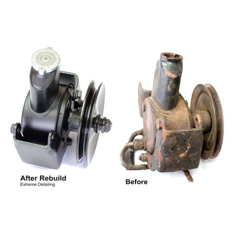 Power Steering Pump, Return & Rebuild Service, 1972-88 AMC V-8 - Lifetime Limited Warranty - AMC Lives