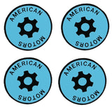 Wheel Center Cap Emblem Kit, Blue, 1970-Early 72 AMC Rebel Machine