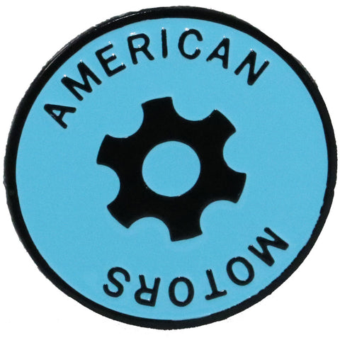 Wheel Center Cap Emblem, Blue, 1970-Early 72 AMC Rebel Machine (4 Required) - American Performance Products, Inc.