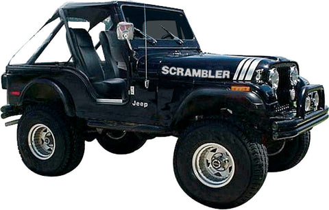 Decal and Stripe Kit, Factory Authorized Reproduction, 1970-95 AMC Jeep Scrambler (7 Colors)