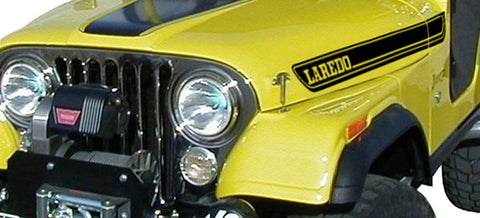 Decal and Stripe Kit, Factory Authorized Reproduction, 1970-95 AMC Jeep Laredo (7 Colors) - AMC Lives