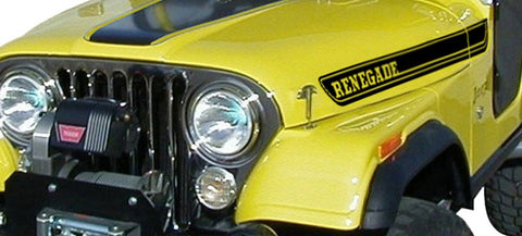 Decal and Stripe Kit, Factory Authorized Reproduction, 1970-95 AMC Jeep Renegade (7 Colors) - AMC Lives