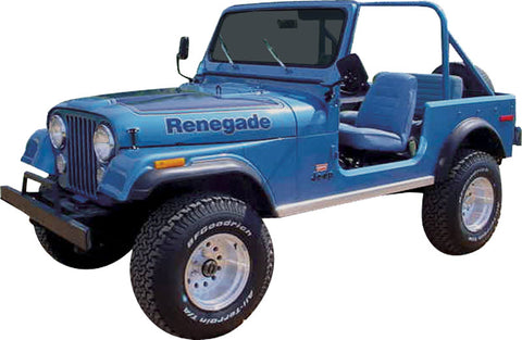 Decal and Stripe Kit, Factory Authorized Reproduction, 1977-78 AMC Jeep Renegade (2 Color, 2 Color Choices)