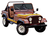 1981-1982 AMC Jeep Renegade Stripe Decal Kit (3 Multi-Colors)