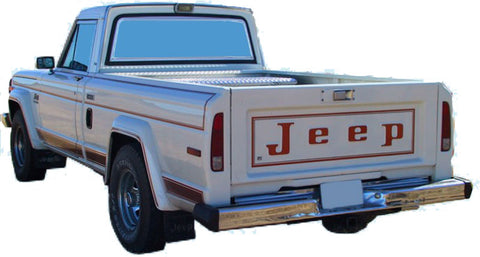 Decal and Stripe Kit, Factory Authorized Reproduction, 1983-86 AMC Jeep Laredo J10/Cherokee SJ Decal Stripe Kit (2 Color, 2 Color Choices)