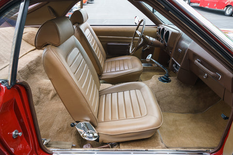 1969 AMC AMX Legendary Auto Interiors Bucket Leather Seat Covers (2 Colors)