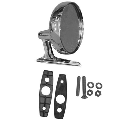 Rear View Mirror Kit, Chrome, Right Side, 1968-69 AMC