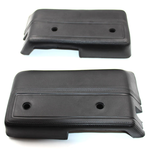 Armrest Kit, Driver & Passenger Side, Black Padded Vinyl, 1968-1970 AMC AMX, Javelin