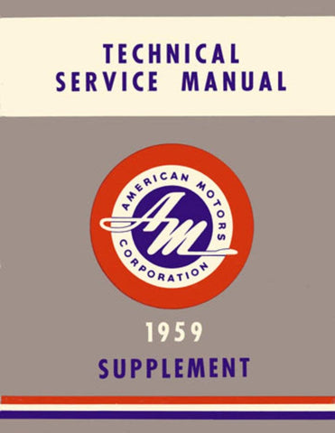 1959 AMC Technical Service Manual Supplement
