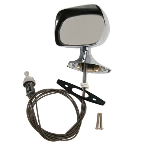 Remote Rear View Mirror Kit, Chrome, Left Side, 1970-74 AMC