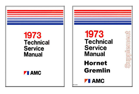 Technical Service Manual, Factory Authorized Reproduction, 1973 AMC