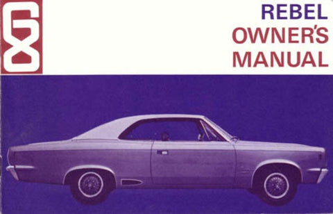 Owner's Manual, Factory Authorized Reproduction, 1968 AMC Rebel