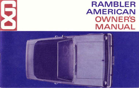 1968 AMC Rambler American Factory Authorized Owner's Manual