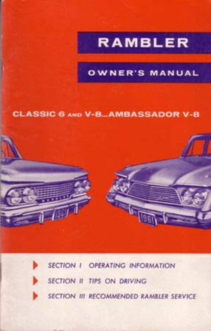 1961 AMC Rambler, Classic, & Ambassador Factory Authorized Owner's Manual