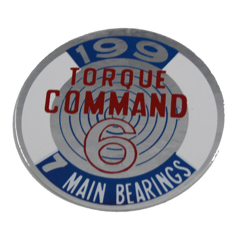 1967-70 AMC, Jeep 199 Torque Command 6 Valve Cover Decal
