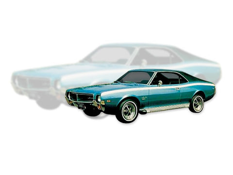 1968-1969 AMC Javelin 2 Color Stripe & Decal Kit (4 Colors)