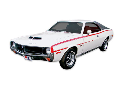 Decal and Stripe Kit, Factory Authorized Reproduction, 1969 1/2 AMC Javelin SST (3 Colors) - AMC Lives