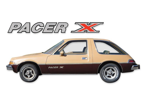 Decal and Stripe Kit, Factory Authorized Reproduction, 1975-77 AMC Pacer X (1 Color Choice)